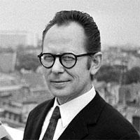 Portrait de Morris. Illustrateur et auteur de BD.