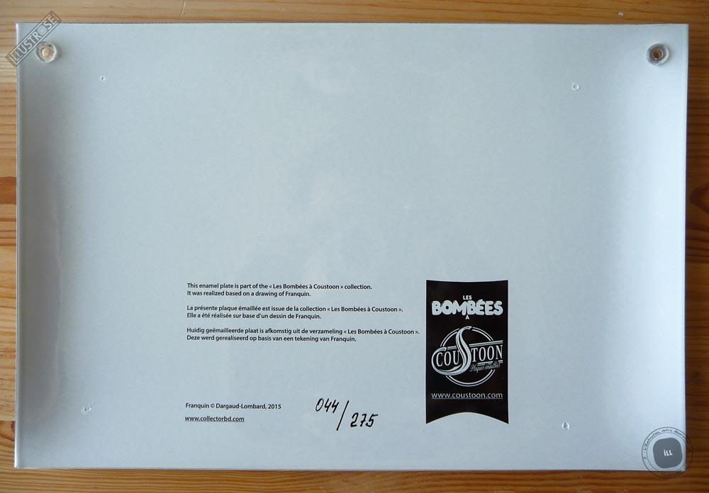 Plaque émaillées para BD Coustoon déco 'Gaston Lagaffe - Tortue, rapporte' de Franquin - Illustrose