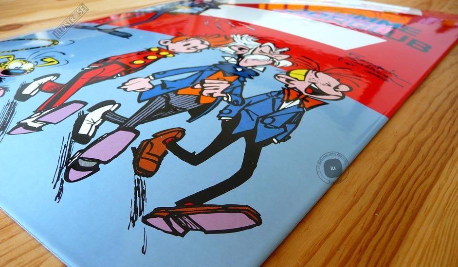 Plaque émaillées para BD Coustoon déco 'Spirou et le Marsupilami - Z comme zorglub' de Franquin - Illustrose