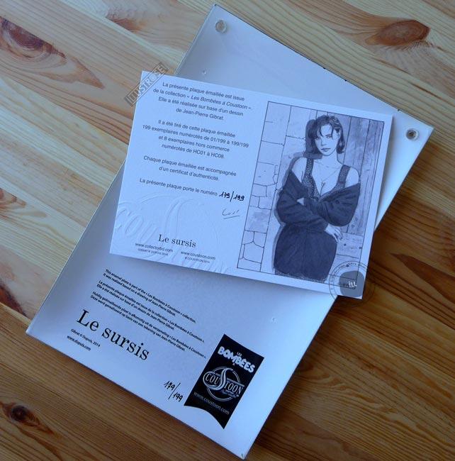 Plaque émaillées para BD Coustoon déco 'Le Sursis, Cécile' de Jean-Pierre Gibrat - Illustrose