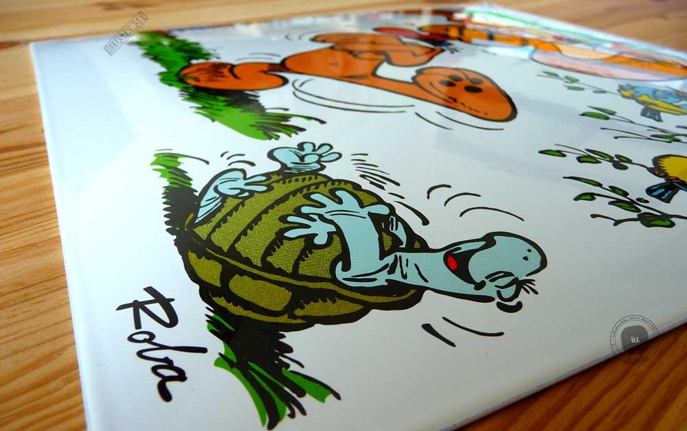 Plaque émaillées para BD Coustoon déco 'Boule et Bill - Bill est maboul' de Roba - Illustrose